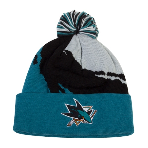 7f5b8b9d27c Shop Mitchell   Ness San Jose Sharks Cuffed Beanie Paintbrush (100%  Acrylic) - Free Shipping On Orders Over  45 - Overstock.com - 17267111