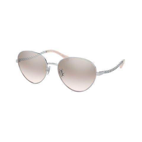 Coach HC7114 90018Z 56 Silver Woman Pilot Sunglasses