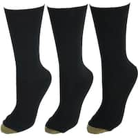 Gold Toe Women's Extended Size Textured Crew Socks (3 Pair Pack)