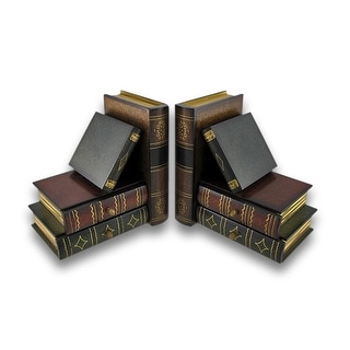 Stack of Hardcovers Bookends with Stash Drawers - Multicolored