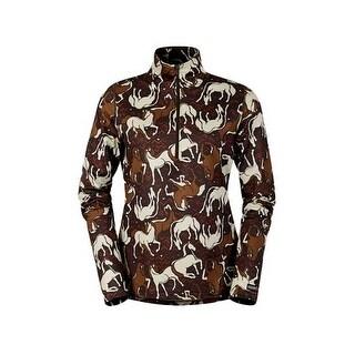 Kerrits English Shirt Womens Horse Sense Half Zip L/S Stretch 40582
