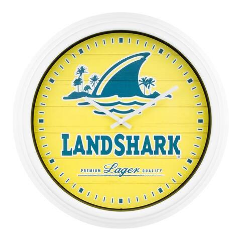 """La Crosse Clock 433-3841LS 15.75"""" Landshark Indoor/Outdoor Quartz Clock"""
