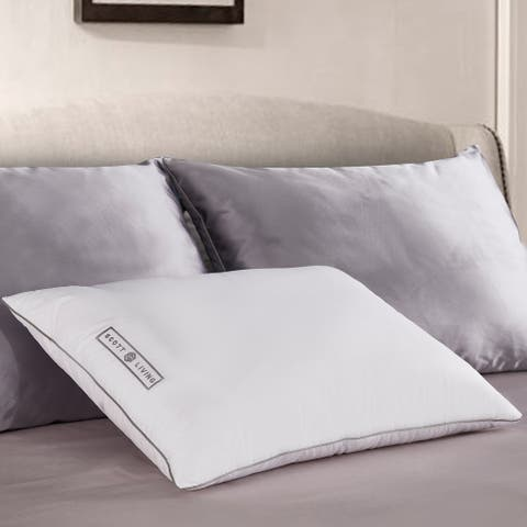 SCOTT LIVING Poly Around White Goose Feather And Down Pillow