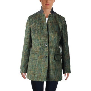 Rachel Rachel Roy Womens Two-Button Blazer Wool Blend Brushed