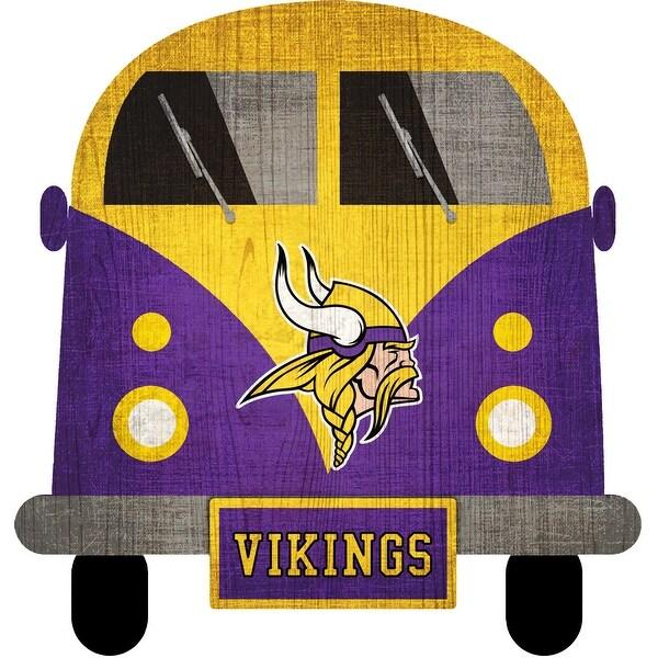 "Minnesota Vikings Team Bus 12"" Wooden Sign"
