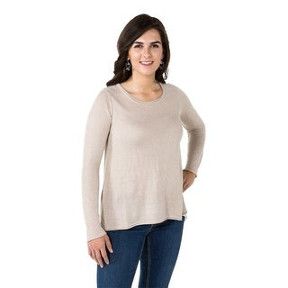 Noble Outfitters Sweater Womens L/S Tory Lace Loose Fit Drop Hem 27006
