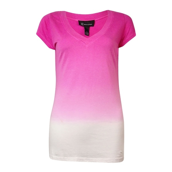 INC International Concepts Women's Ombre V-Neck Tee