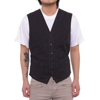 Dockers Men Front Pocket Button Down Vest Vest Navy