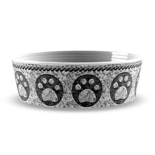 Granite Paw Print Pet Bowl by TarHong - Medium