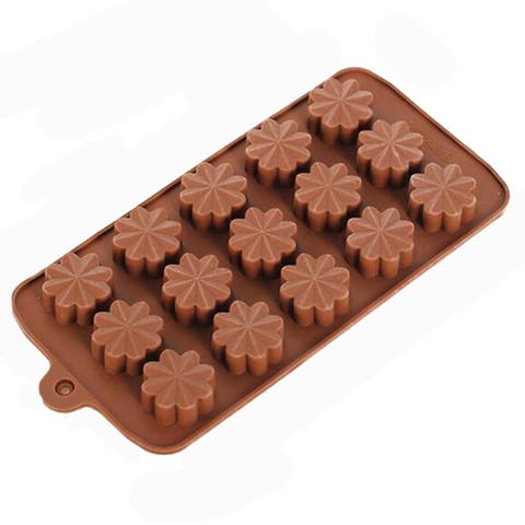DIY Chocolate Mold Biscuit Mold Pudding Mold Silicone - brown