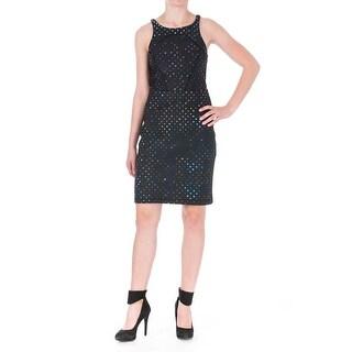 Cynthia Rowley Womens Polka Dot Bonded Clubwear Dress