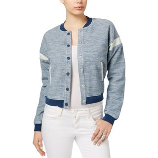 Guess Womens Bomber Jacket Dobby Colorblock
