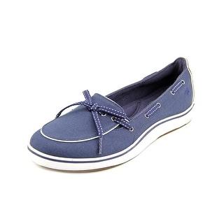 Grasshoppers Windham Women N/S Moc Toe Canvas Blue Boat Shoe