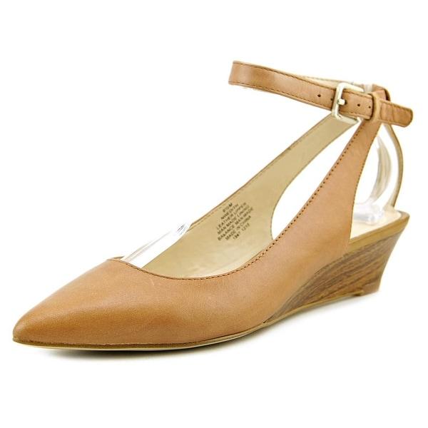 Nine West Edith Women  Open Toe Leather  Wedge Heel