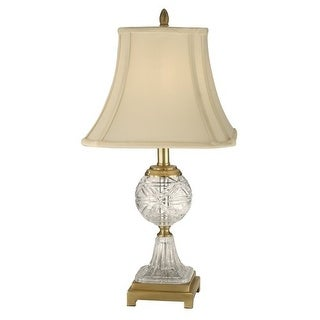 Dale Tiffany GT10370 1 Light Crystal Table Lamp with Fabric Shade