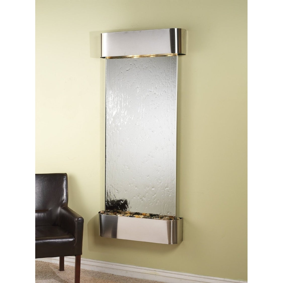 Adagio Inspiration Falls Fountain w/ Silver Mirror in Stainless Steel Finish - Thumbnail 0