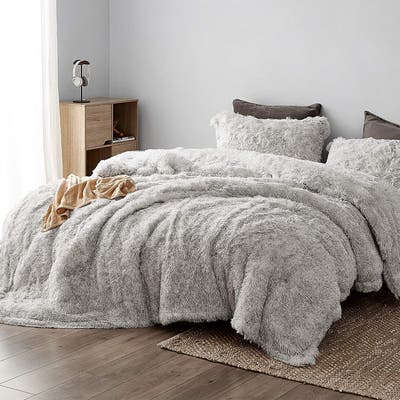 Socially Distant - Coma Inducer® Oversized Plush Comforter Set - Cloud Gray