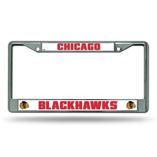 Chicago Blackhawks Chrome License Plate Frame