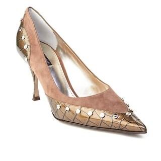 Dolce & Gabbana Women's Pointed Toe Crocodile Skin Pump Grey (2 options available)