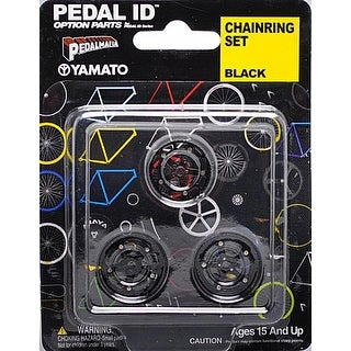 Pedal Id 1:9 Scale Bicycle: Chain Ring Set: Black - multi