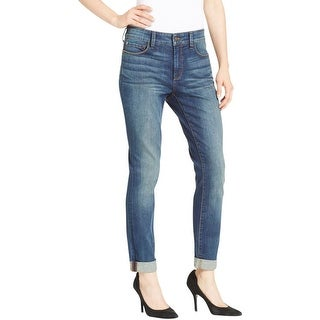 NYDJ Womens Boyfriend Jeans Cuffed Slimming Fit