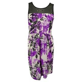 INC International Concepts Women's Illusion Froral Print Dress - windshield