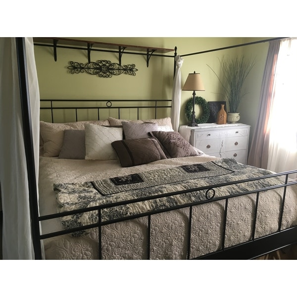 cara king metal canopy bed free shipping today