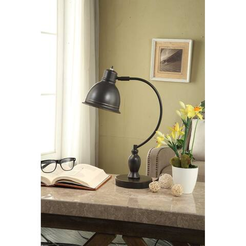 "Cooper Ridge 17"" Restoration Oil-Rubbed Bronze Arc Desk Lamp"
