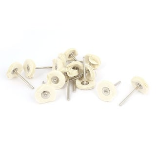 """Unique Bargains 15 Pcs Round Shank 25mm 1"""" Dia Polish Buffing Wheel Beige for Electric Drill"""