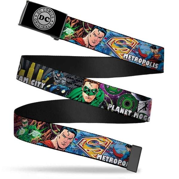 Dc Originals Reverse Brushed Silver Cam Superman Metropolis Batman Web Belt