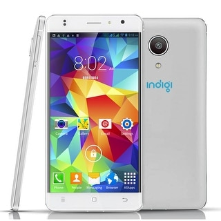 "Indigi 4G Lte SmartPhone Android 6.0 MarshMallow 5"" IPS Curved Screen UNLOCKED! - White"