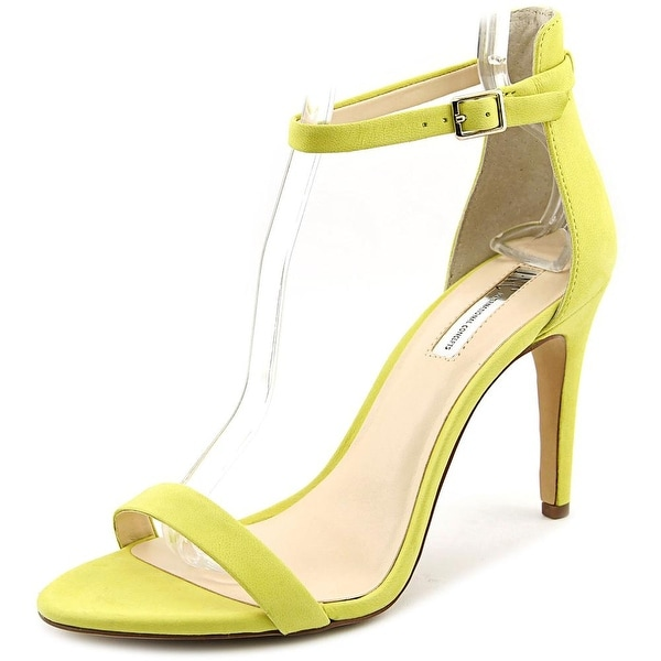 INC International Concepts Roriee Women Open Toe Suede Yellow Sandals