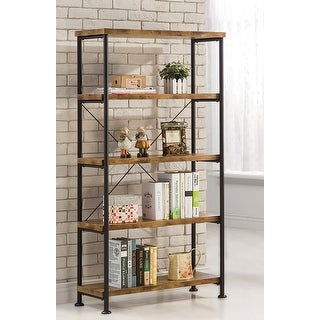 Link to Carbon Loft Dumont Industrial 4-shelf Bookcase Similar Items in Bookshelves