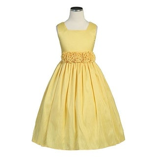 Sweet Kids Yellow Taffeta Special Occasion Flower Girl Dress 6M-12