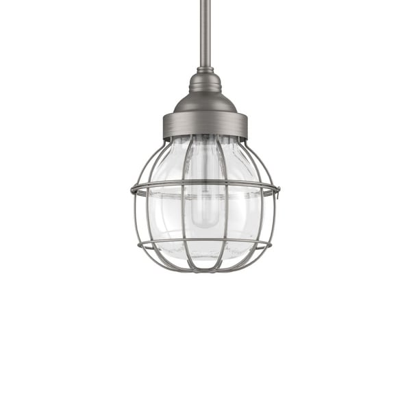 """Park Harbor PHPL5471 7"""" Wide 1-Light Mini Pendant with Wire Glass Guard - N/A"""