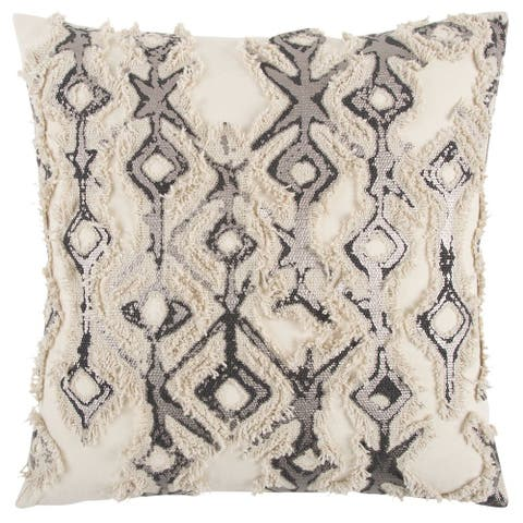 "Rizzy Home Grey Deconstructed Decorative Pillow 20"" x 20"""