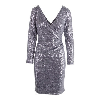 Aidan Mattox Womens Metallic Gathered Cocktail Dress - 12