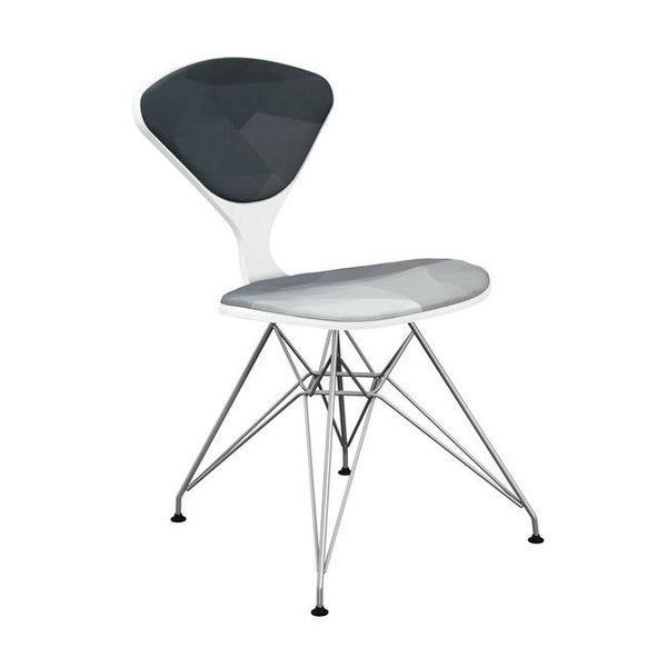 Nyekoncept White Chrome Emmet Eiffel Chair Midnight Topography Free Shipping Today 22082260