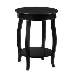 "Powell Home Fashions 350  Bubblegum 18"" Diameter Wood Accent Table"