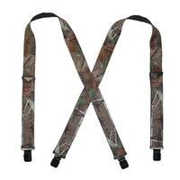 Realtree Men's Elastic 2 Inch Wide Camouflage Clip-End Suspenders