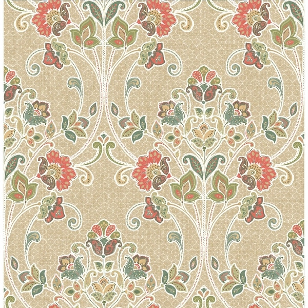 Brewster 1014-001808 Willow Coral Nouveau Floral Wallpaper - willow coral nouveau - N/A