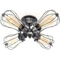 4 light antique industrial ceiling lamp edison ceiling light - Thumbnail 0