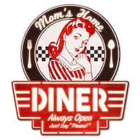 Past Time PS924 15 x 17 in. Moms Home Diner Plasma Sign