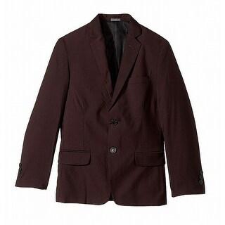 Calvin Klein Purple Boys Size 18 Two-Button Notch-Collar Blazer