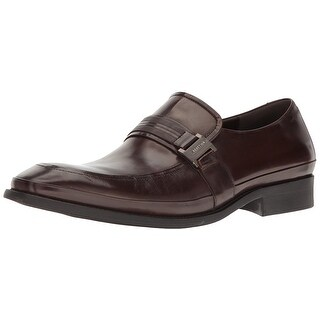 Kenneth Cole Reaction Mens 211622 Leather Slip On Dress Oxfords