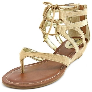 Carlos by Carlos Santana Lacey Open Toe Canvas Gladiator Sandal
