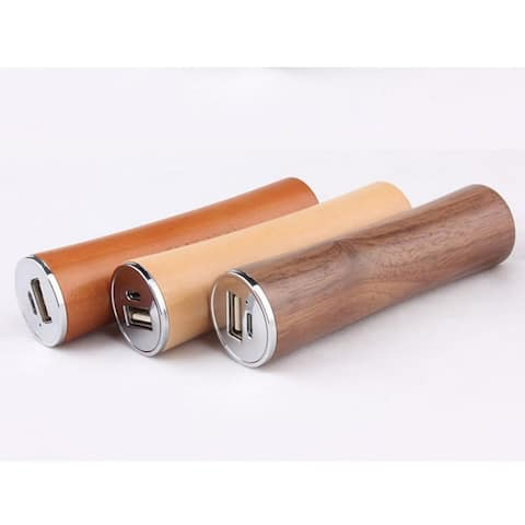 Smartphone Power Extender With Real Natural Wood Casing