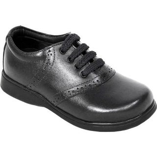 Schoolmates Girls' SM512 Casual Shoe - Preschool Black Leather