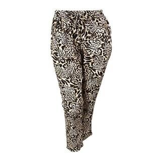 Calvin Klein Women's Animal Print Drawstring Pants - XL