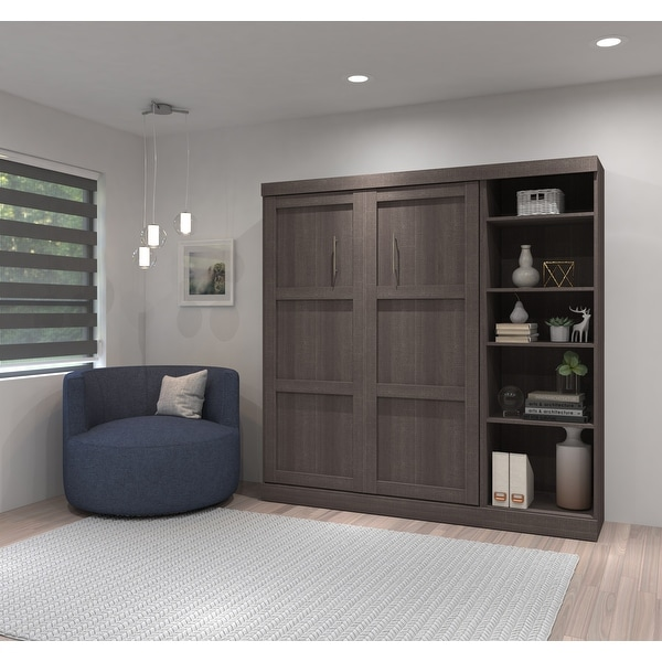 Pur by Bestar Full Wall Bed with Storage Unit. Opens flyout.